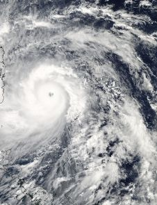 Super-typhoon Haiyan, equivalent to a Category 5 hurricane on the U.S. Saffir-Simpson scale, struck the central Philippines municipality of Guiuan at the southern tip of the province of Eastern Samar early Friday morning at 20:45 UTC (4:45 am local time). NASA's TRMM satellite captured visible, microwave and infrared data on the storm.
