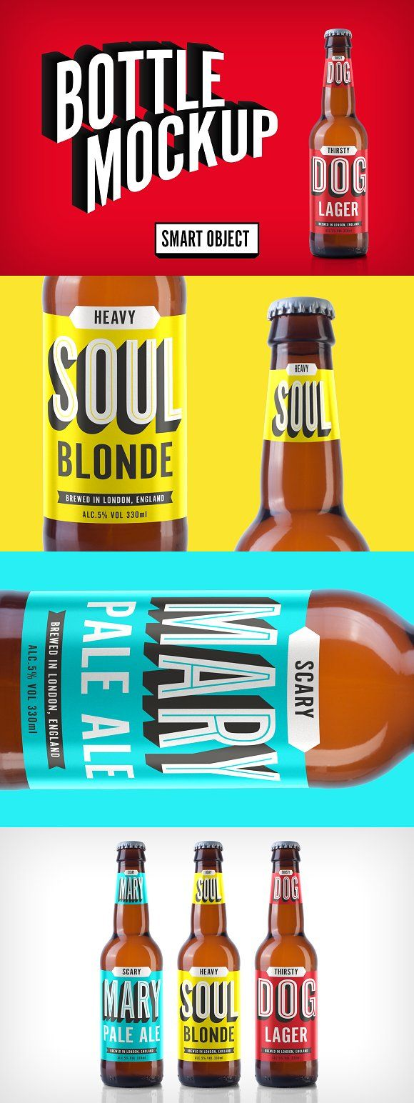 Beer bottle mockup by It's me simon on @creativemarket
