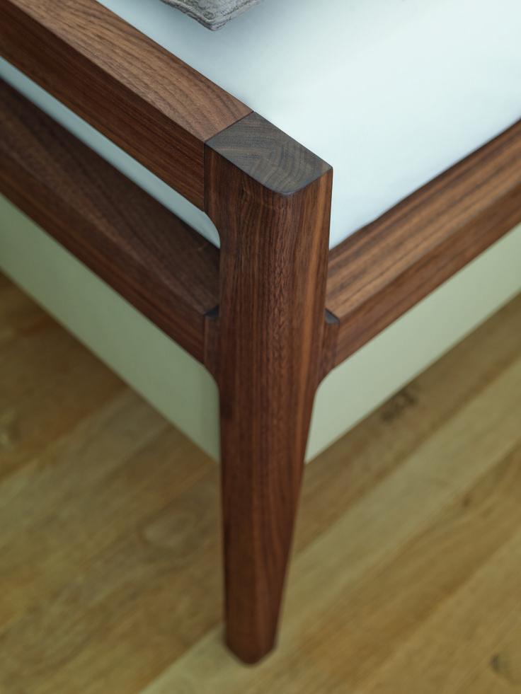 The Foot Of The Mylon Bed By Team7 Is Sleek And Sophisticated Walnut