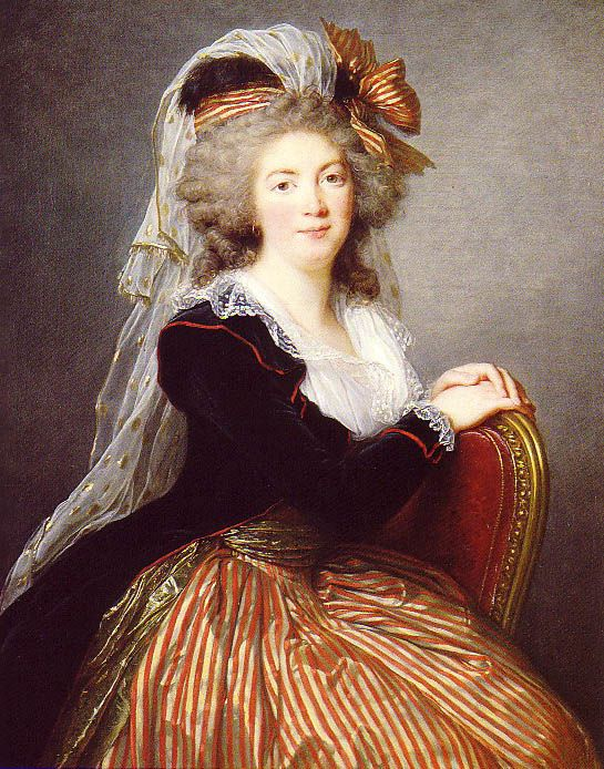 Genevieve-Sophie le Coulteux du Molay - 1788 Elisabeth Louise Vigee Le Brun (painted at Malmaison, which was the property of the family of Madame du Molay. )