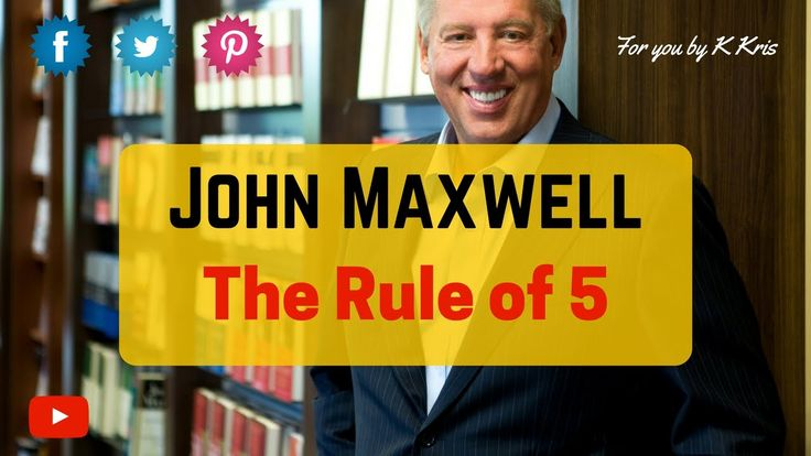 John Maxwell's Rule of 5. This rule focuses on the need for daily improvement. Master this rule and you will see yourself getting better in days.