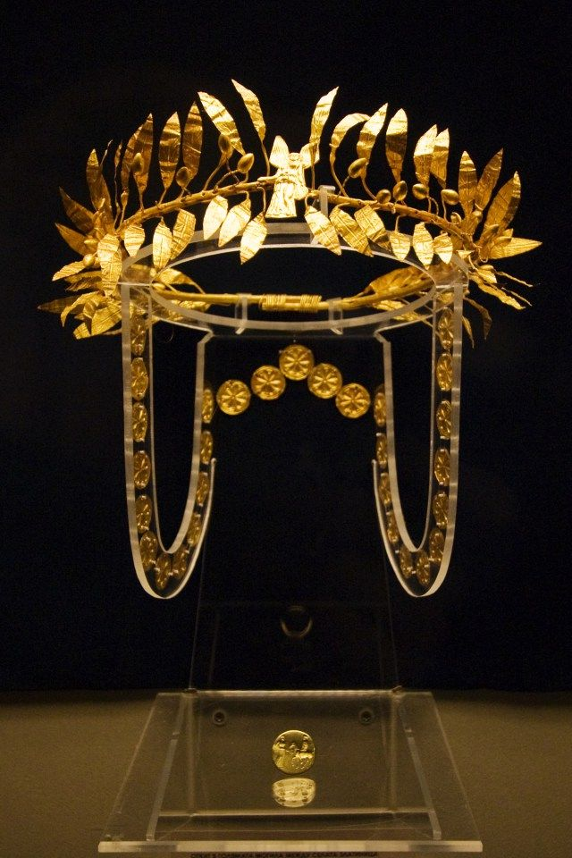 Ancient Thracian Gold Laurel Wreath Which May Have Originated in Ancient Troy Turned In to Bulgaria's National Museum of History
