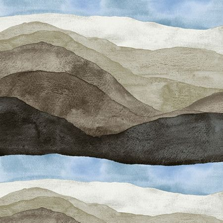 """variation of this to teach perspective and density:  Use a weak color rinse.  Do multiple coats but in increasingly less area to create darker """"hills"""" near the bottom of the page"""