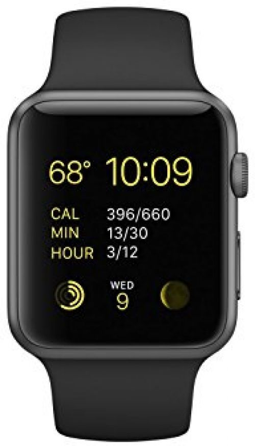 Apple Watch Sport, Space Grey Aluminum Case/Black Band, 42mm #Apple