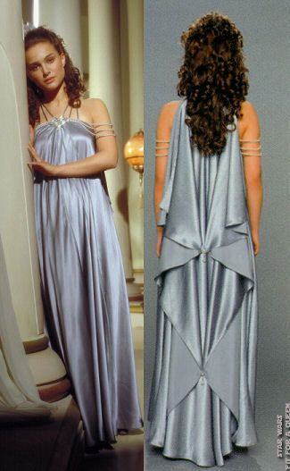 Padme's nightgown.  It looks really uncomfortable to sleep in.  Seriously you'd have bead imprints all over your arms and the little beaded cross overs in the back would tear the first time you even took a nap.