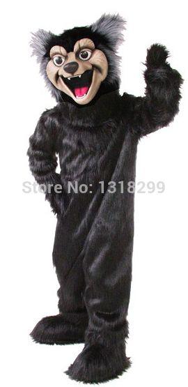 Талисмана парк огромный черный волк костюм талисмана необычные платье на заказ необычные костюмы для косплея стиль mascotte карнавальный костюм комплекты