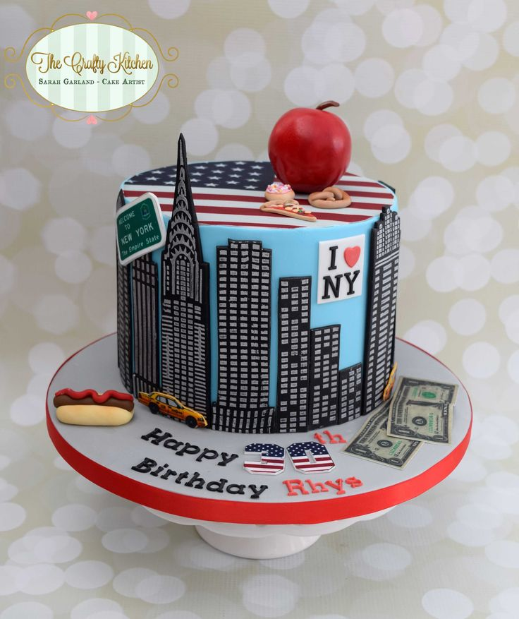 A New York themed Birthday Cake.