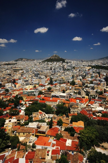 Been there! View from above, Athens Greece Would love to go there.