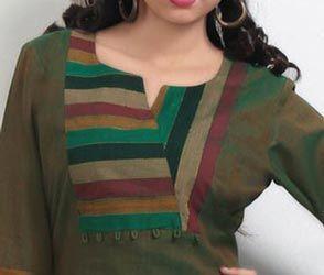 Cotton Churidar Suits Neck Gala Designs Patterns Image
