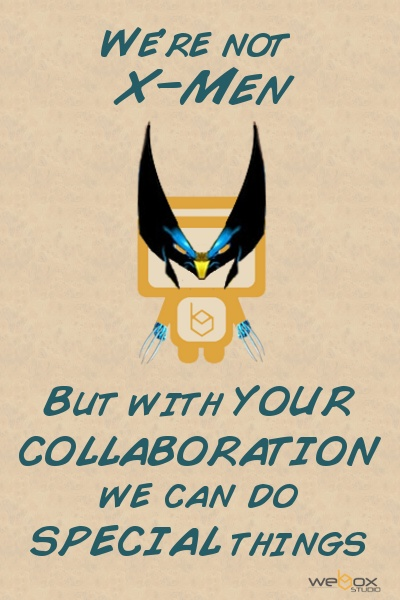 La Collaborazione con i clienti ci permette di creare prodotti speciali! Che aspetti? Entra in WeBox Studio, insieme costruiremo la soluzione web che fa per te!