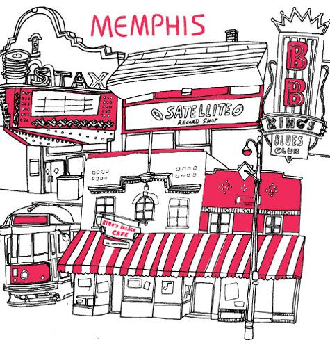 Check out the Design*Sponge Guide to Memphis, Tennessee for shopping, eating and seeing ideas.
