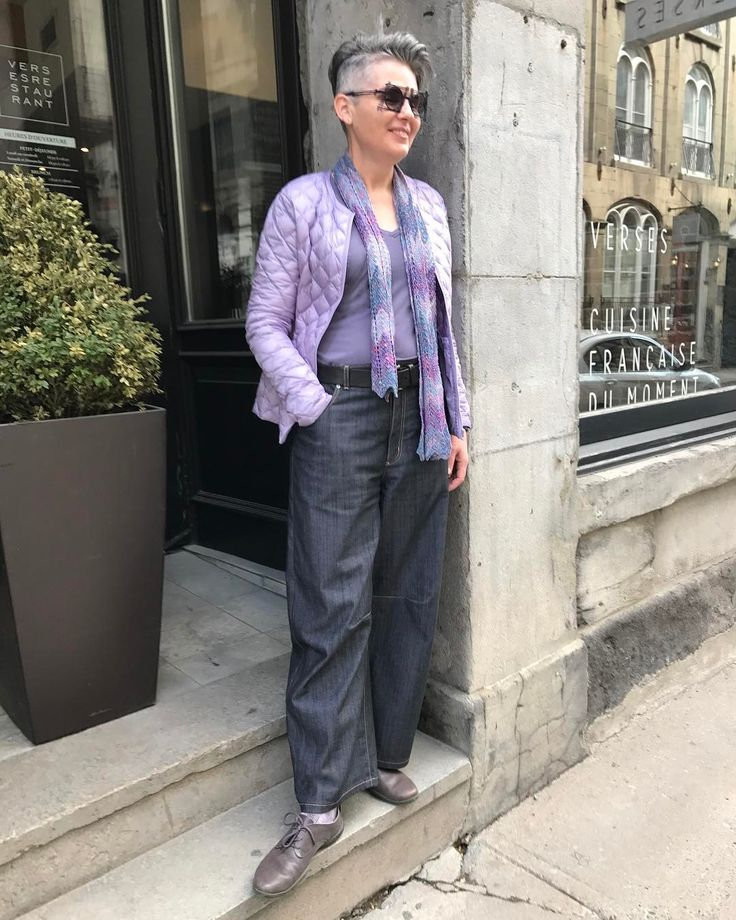 Old Montreal, wearing the jeans I developed for @EmmaOneSock.com This version of denim with a mauve undertone. Love the style! Sweater kits silk scarf I knit in a chevron pattern. #emmaonesock #imakemyclothes #imakemyownclothes #isew #over50andfabulous #over50style #iwearwhatiwant #50fashion #50plusstyle #isewjeans #isewclothes #isewmyownclothes #sweaterkits #stixandstones #50plusandfabulous  #hotelnelligan #montreal #frenchclothing #quebecstyle #50 #iknitthis #iknitscarves #silkscarves…
