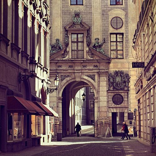 Rome Italy City Street Archway Sightseeing