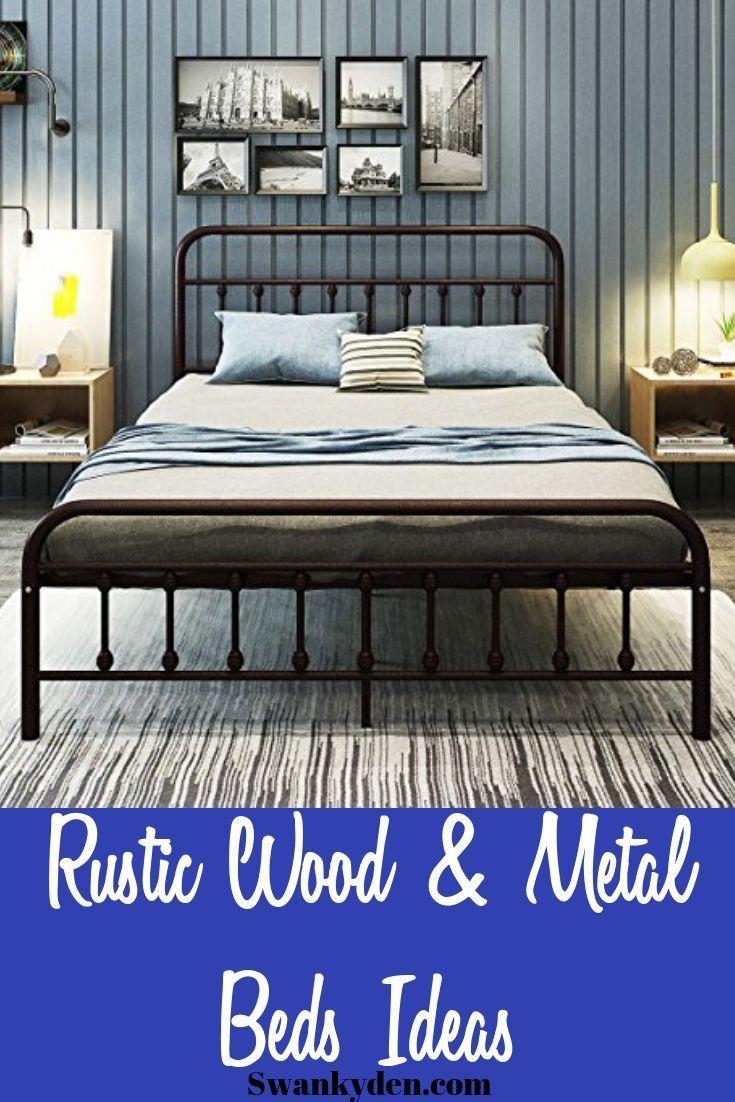 Best Wooden And Metal Rustic Bed Frames You Ll Love Pallet Furniture Bedroom Rustic Bed Frame Rustic Bedroom Design