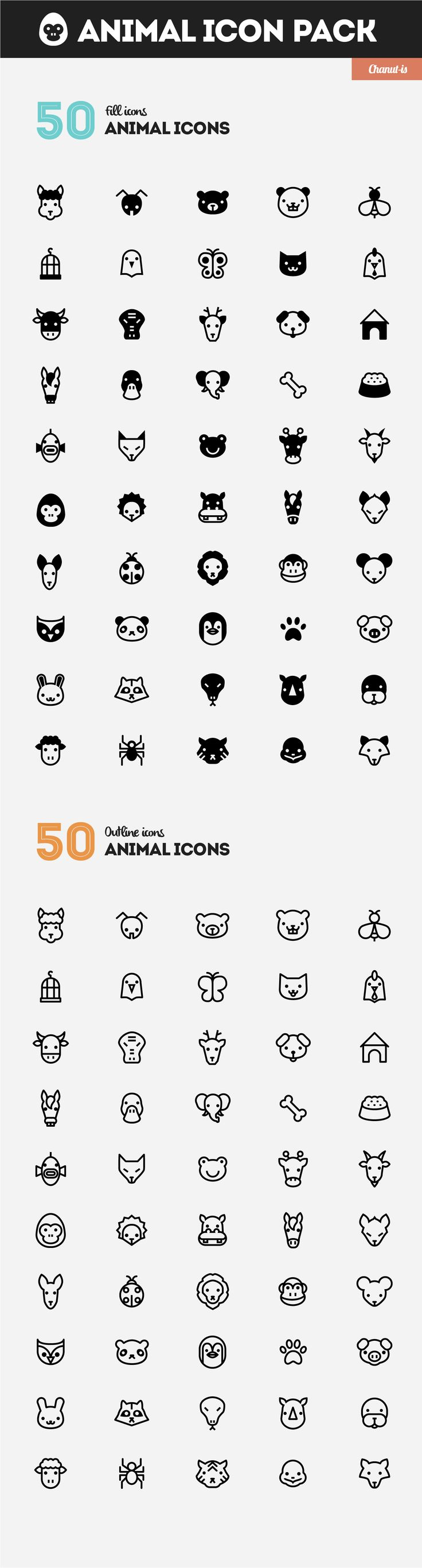 Animal icons pack by Chanut-is Product on @creativemarket