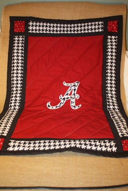 Alabama Baby Blanket Quilt  Car Seat Quilt  by TwizzleStitches, $55.00