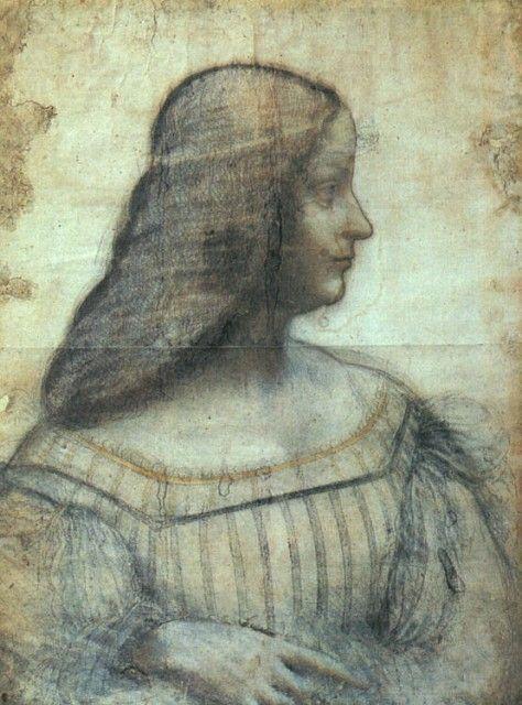 Leonardo da Vinci - Isabella d'Este - circa 1500 - Louvre Museum Paris
