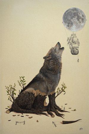 It's Friday... howl at the moon. #TGIF