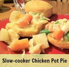 Slow-cooker Chicken Pot Pie! Slow-cooker recipes are fabulous because you can prep the night before, put the slow-cooker pot in the refrigerator, then in the morning before work or appointments, bring out the slow-cooker pot, insert it into the slow-cooker heating element and when you come hom after a long day, dinner is ready and waiting for you!  http://www.annsentitledlife.com/recipes/slow-cooker-chicken-pot-pie/ #recipes #dinnerrecipes #chickenrecipes #slowcookerrecipe