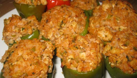 Ingredients  6 green Bell Peppers (for stuffing) 2 lbs. Ground Beef 2 lb. Shrimp, chopped (uncooked) 1 lb. lump Crab Meat 2 stalks Celery, chopped 2 Onions, chopped 1 Bell Pepper, chopped 2 Tbsp. f…