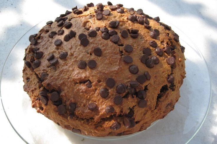 bizcocho de galletas y chips de chocolate