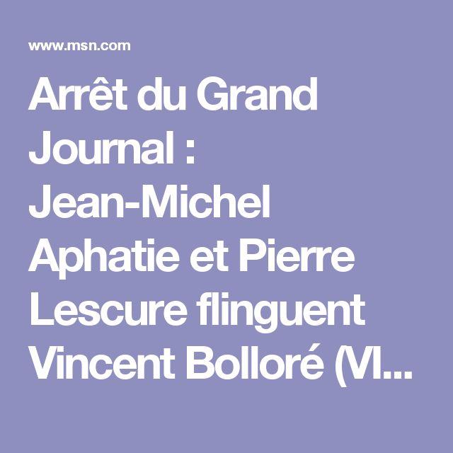 Arrêt du Grand Journal : Jean-Michel Aphatie et Pierre Lescure flinguent Vincent Bolloré (VIDEO)