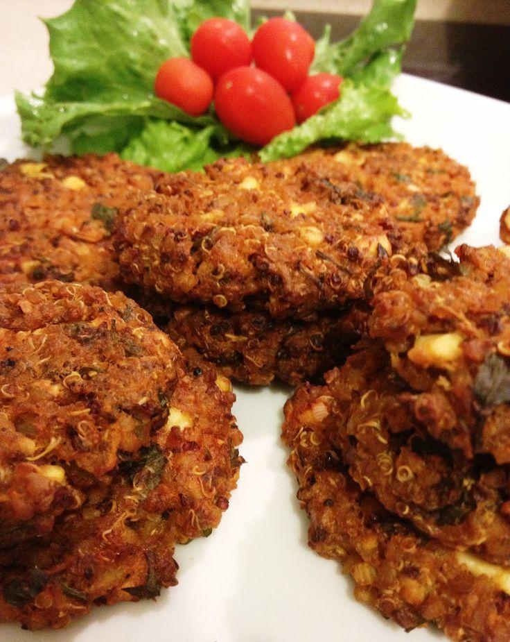 Galettes boulgour quinoa féta pour burgers vegans