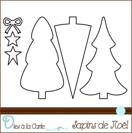 Set 6 Dies Sapins de Noël