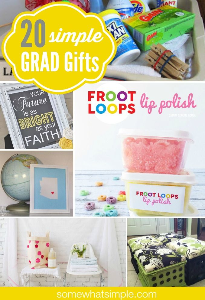 20 simple graduation gifts - great ideas!