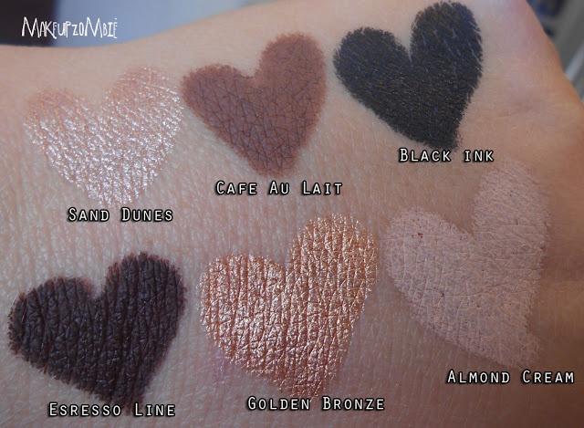 Makeup Zombie: Milani Naturally Chic Shadow Eyez Eyeshadow Pencils! SWATCHES!