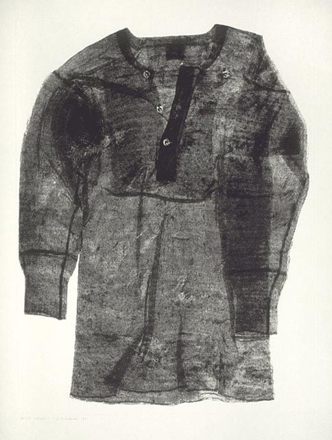 Betty Goodwin, Shirt Four,1971 soft-ground etching on wove paper