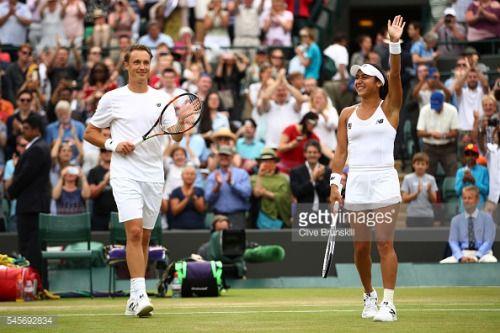 LONDON, ENGLAND - JULY 09: Heather Watson of Great Britain and... #henrichapelle: LONDON, ENGLAND - JULY 09: Heather Watson… #henrichapelle