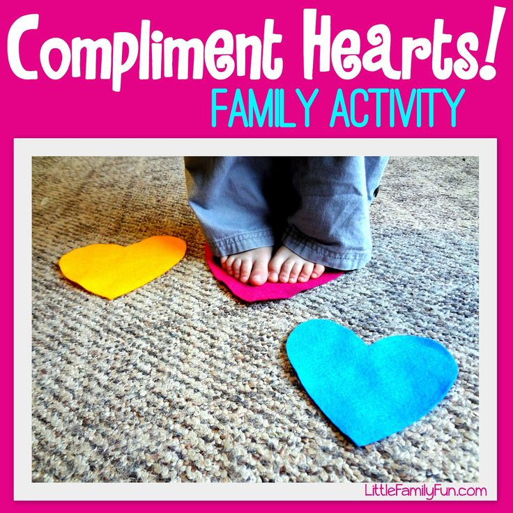 Little Family Fun: Compliment Hearts - Family Activity