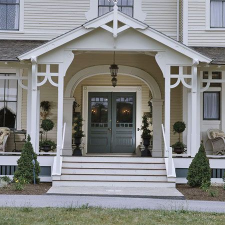 59 best new house front side door ideas images on for Double front porch house plans