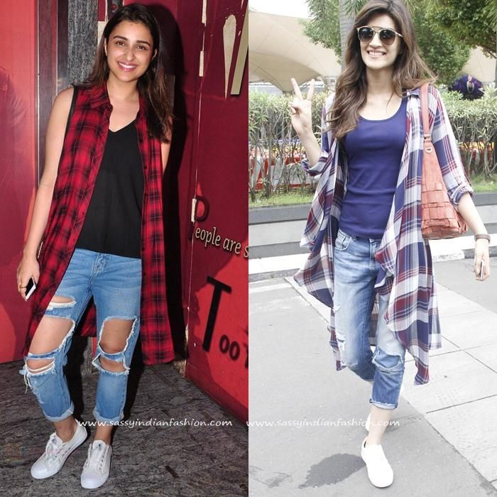 Celebrity in Ripped Jeans, Celebrity in Distressed Jeans, How to Style Distressed Denims and Jeans.