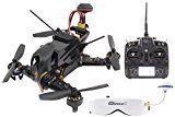 XciteRC 15003960FPV Racing - Cuadricóptero F210RTF con cámara Sony HD, OSD, vídeo gafas Goggle2, batería, cargador, y control remoto Devo7, color negro