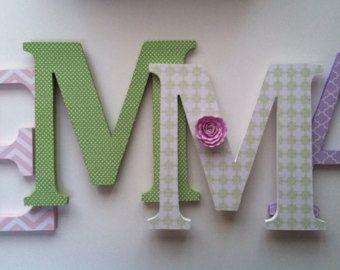 Alfabeto Letras de madera para dormitorio en por SummerOlivias