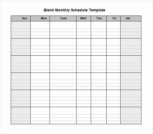 Employers use these schedules to assign hours to each of their employees and give everyone a document to reference for shift times. Monthly Staff Schedule Template Best Of Blank Schedule Template 6 Download Free Documents I Schedule Template Schedule Templates Weekly Schedule Template Excel