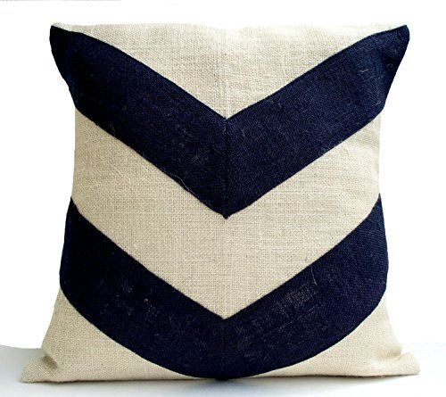 Ivory Burlap Throw Pillow Cover with Black Burlap Stripes - Color Block Pillow Cases - Decorative Pillows Gifts (14x14 Inches) Amore Beaute http://www.amazon.com/dp/B016DGJL1S/ref=cm_sw_r_pi_dp_f7Inwb0K60FPN
