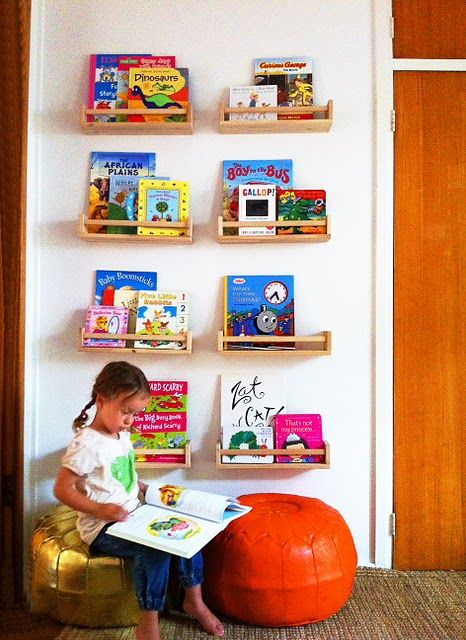 Bekvam spice rack bookshelf how-toBook Display, Bookshelves, Kids Room, Book Storage, Reading Corner, Spices Racks, Book Shelves, Kids Book, Spice Racks