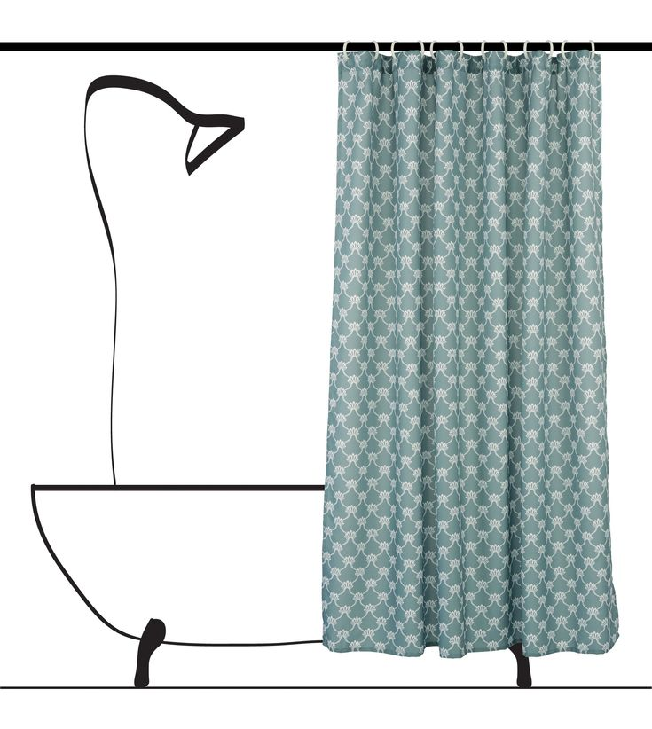 Updating your bath space has never been so easy as with a Manhattan shower curtain set by LJ Home Fashions. Outlined white geometric design available in chartreuse green, dark grey, ocean blue and grey. Available on Amazon, Wayfair, Home Depot and Lowes.
