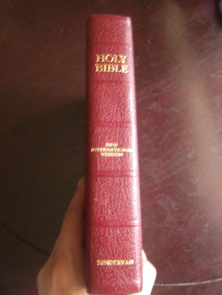 New International Version NIV Genuine Cowhide Holy Bible Zondervan 1978 5th Prt