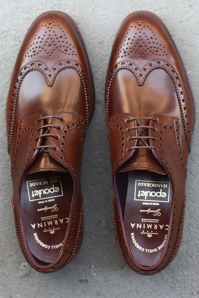 "dressshoesandsneakers: "" Carmina Fitzgerald Shortwing Cognac Shell Cordovan http://www.facebook.com/DressShoesandSneaker """