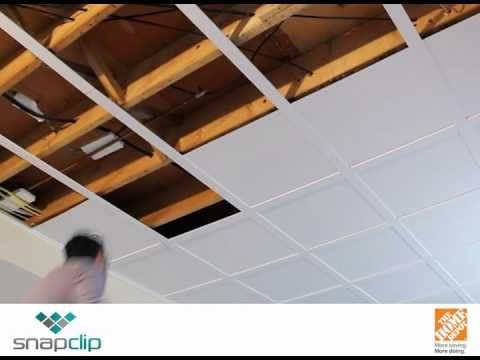 Take a look at this! Amazingly simple installation process for lowered ceiling installation.