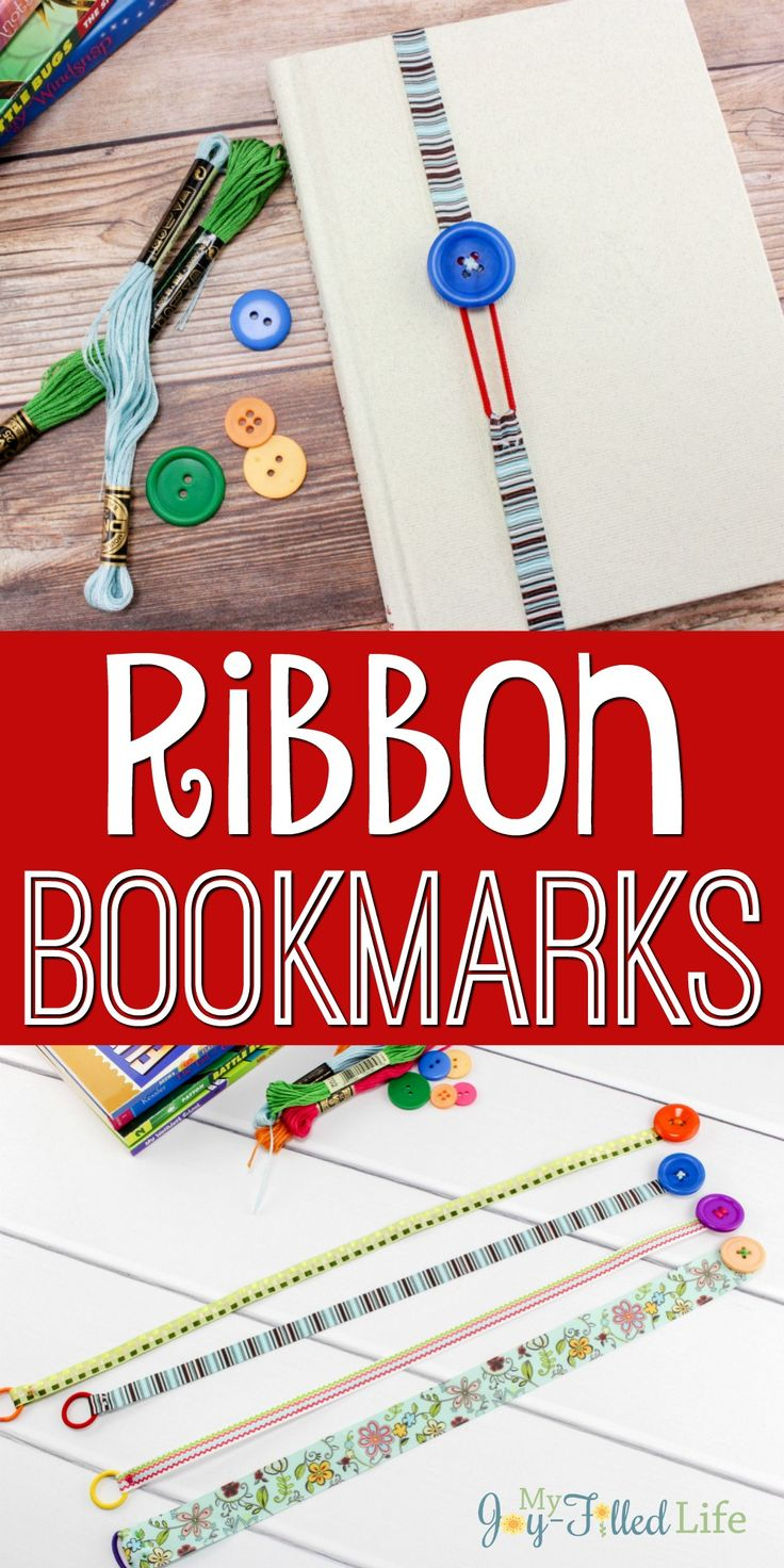 Simple and easy to make riboon bookmarks