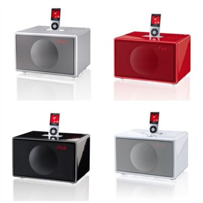 Geneva Sound System docks in 4 colors. Love these.