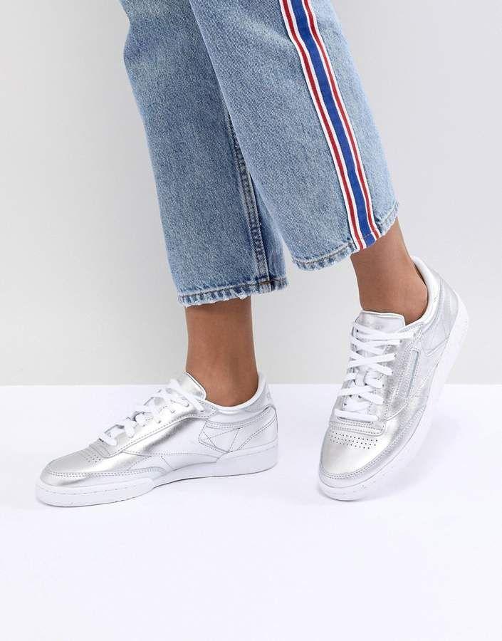 2199e3c379d Reebok Classic Club C Sneakers In Silver Metallic