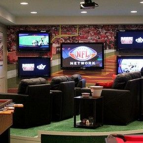 Sports man cave