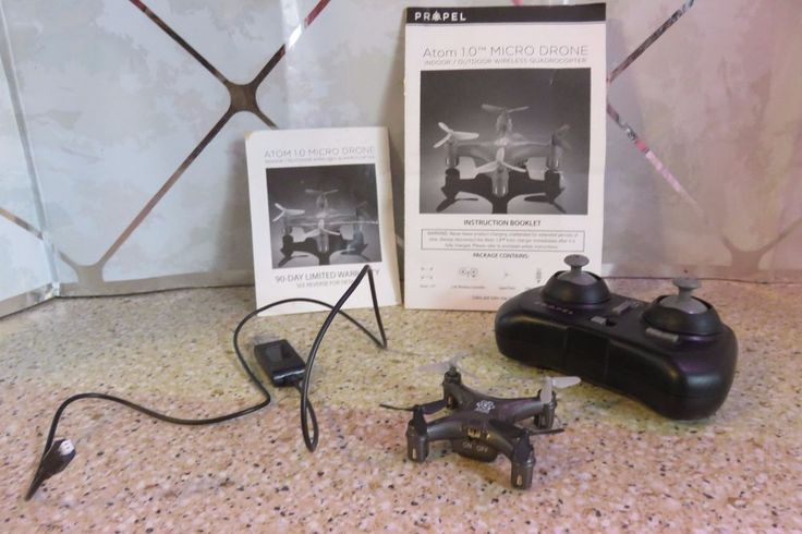 PROPEL Atom 1.0 Micro DRONE Indoor / Outdoor Wireless QUADROCOPTER Works Great #PROPEL