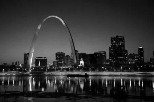 St.Louis Missouri Arch poster Metal Sign Wall Art 8in x 12in